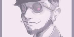 vidra, manga, pmodel, susumu hirasawa, portrait, ojiisan, drawing, anime, anime style, gazio, shop mecano, avatar alone, technopop, synthpop, jpop