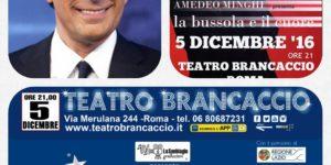 Teatro Brancaccio, Fabrizio Frizzi, Amedeo Minghi, Trimotore Idrovolante, Vidra, Rupa Rupa Records, La bussola e il cuore, La fine delle comunicazioni